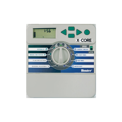 Контроллер Hunter XCore-4i Внутренний пульт управления автополивом на 4 зоны купить в алматы обрудование