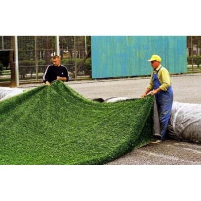 Укладка искусственного газона в Алматы . Рулонный газон Посадка газона